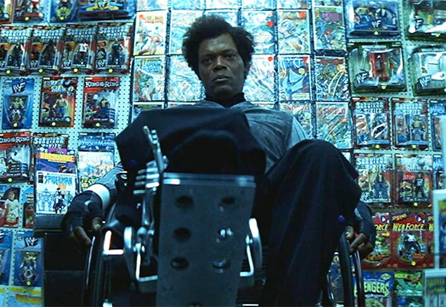 Above: Samuel L Jackson reprises his role as Mr. Glass