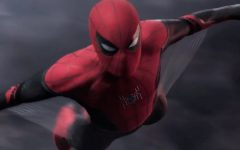 Above: Spidey flies in his brand new suit