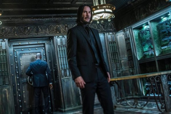Above: Keanu Reeves broods as John Wick