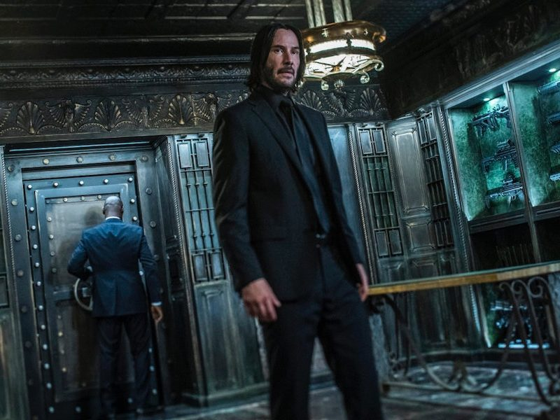Above: Keanu Reeves broods as John Wick