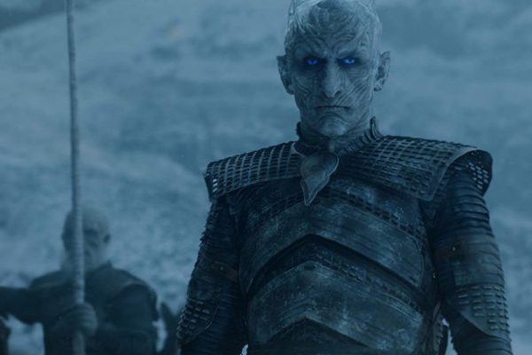 Above: the Night King in full garb