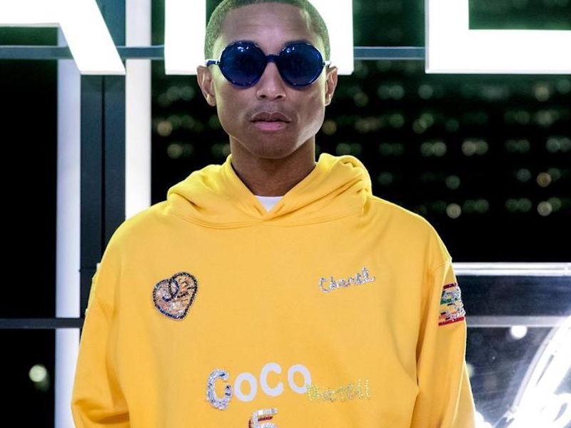 Above: Pharrell decked out in his latest Chanel gear