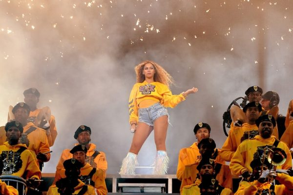 Above: Beyonce performs during last year's edition of Coachella