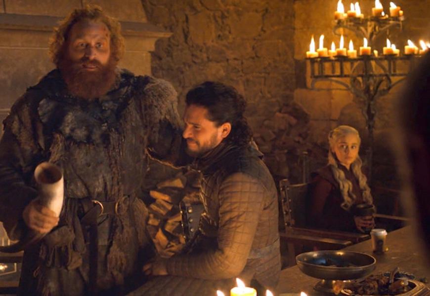 Above: Emilia Clarke's Daenerys Targaryen beside the cup in-question